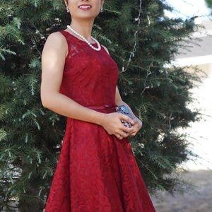 Dresses - Formal Wedding Guest Promp Red High Low Dress SM